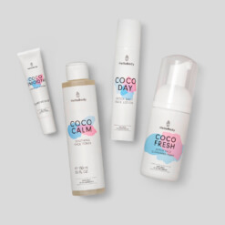 Morning Face Care beinhaltet Coco Smooth, Coco Calm, Coco Day und Coco Fresh
