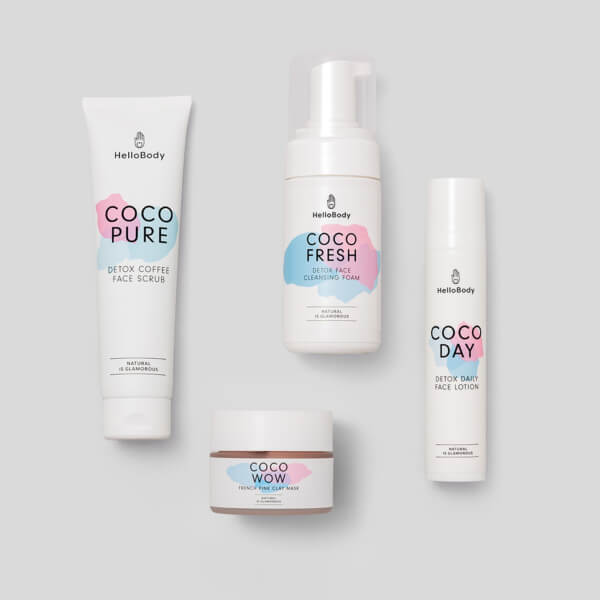 Pink Daily Face Set beinhaltet Coco Pure, Coco Fresh, Coco Wow und Coco Day