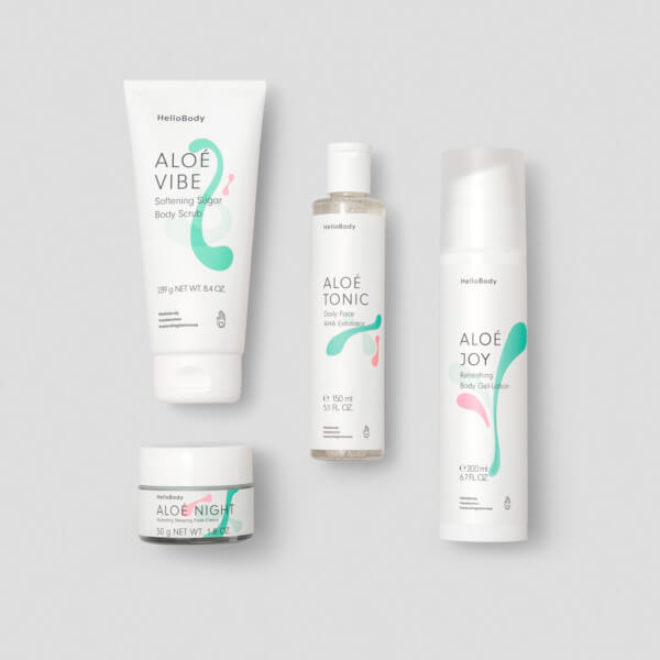 Renew your skin beinhaltet Aloé Night, Aloé Vibe, Aloé Tonic, Aloé Tonic
