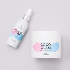 Pink Scrub and Oil Set containing Coco Glam und Coco Slim