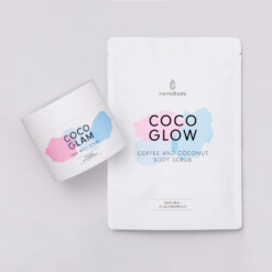 Pink and Coffee Scrub Set containing Coco Glam and Coco Glow