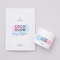 Scrub and Cream Set containing Coco Glow and Coco Cream