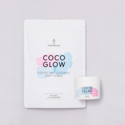 Scrub and Mask Set containing Coco Clear and Coco Glow