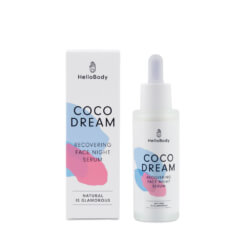 dropper flask for the coco dream recovering face night serum